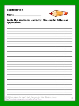 Capitalization Review Practice Task Cards