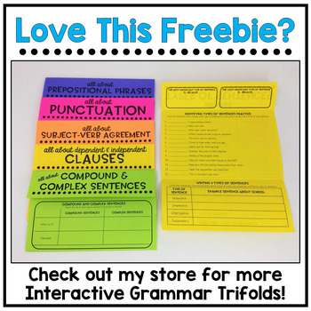 Capitalization Practice Trifold Freebie By Mrs Ms Style Tpt