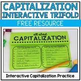 Capitalization Practice Trifold - FREEBIE