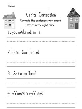 Capitalization: Practice Using Capital Letters Appropriately