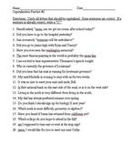 Capitalization Practice Worksheets 1-3 (60 total sentences