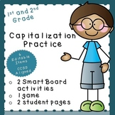 Capitalization Practice-EDITABLE! (first or second grade)