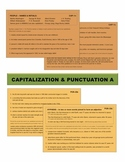 Capitalization & Punctuation A Task Cards with Wall Charts