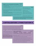 Capitalization & Punctuation B Task Cards with Wall Charts