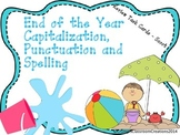 Capitalization, Punctuation, Spelling End of Year Review Task Cards - Scoot