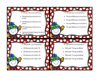 Capitalization & Punctuation Task Cards