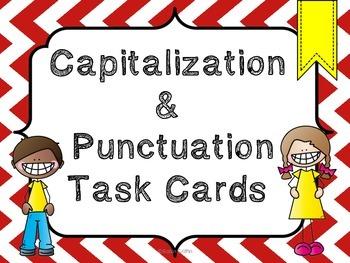Capitalization & Punctuation Task Cards w/QR code option