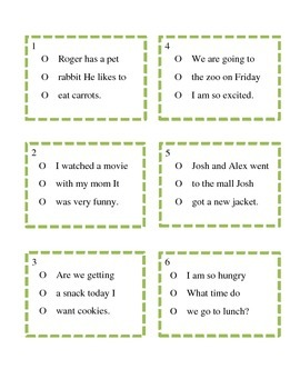 Capitalization, Punctuation, and Usage Practice Cards