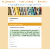 Capitalization Quiz - Digital Google Forms™ (Auto Grading)