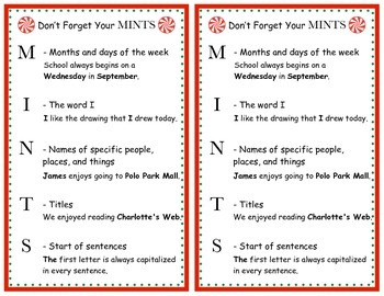 Capitalization Reminder: Don't Forget Your MINTS