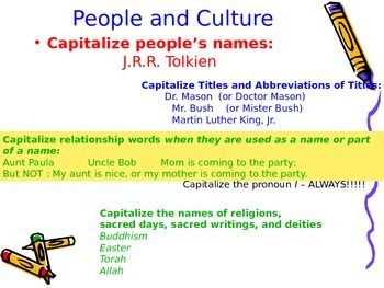 Capitalization Review