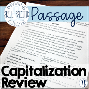 Capitalization Review: Skill-Specific Revising and Editing Passage