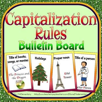 Capitalization Rules Bulletin Board