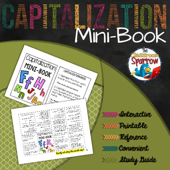Capitalization Rules Mini-Book (A Perfect Addition to an Interactive Notebook)