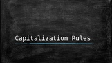 Capitalization Rules Posters