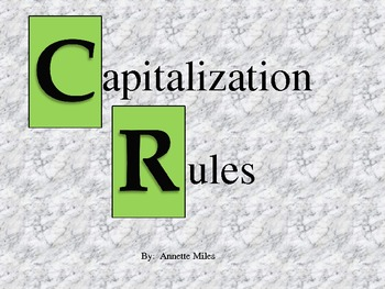 Capitalization Rules PowerPoint for Six Lessons