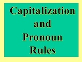 Capitalization Rules Powerpoint
