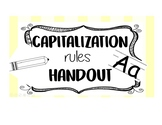 Capitalization Rules Reference Sheet