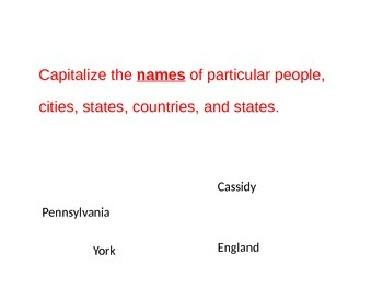 Capitalization Rules and Activity PowerPoint