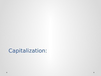 Capitalization Rules and Application