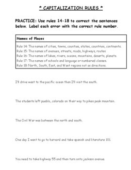 Capitalization and punctuation homework help