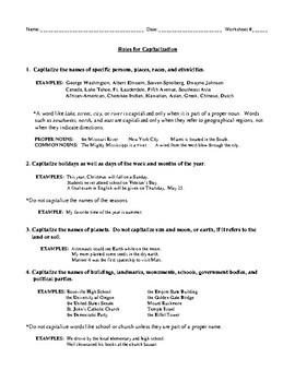Capitalization Rules and Review Option Two