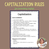 Capitalization Rules for Secondary English/Middle School