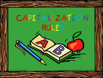Capitalization Rules with Matching Worksheet
