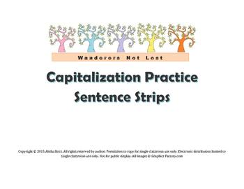 Capitalization Sentence Strips