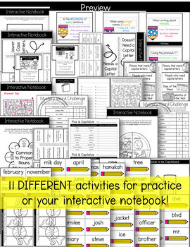 Capitalization Set {Interactive Notebook}