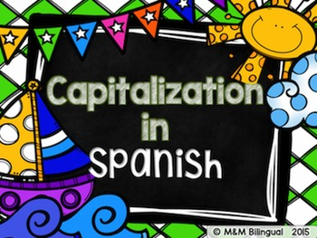 Capitalization {Spanish}
