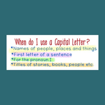 Capitalization Sticker for Writing Assessment
