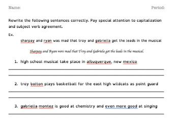 Capitalization, Subject/Verb Agreement, & Homophones