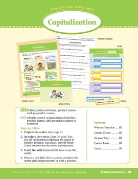 Capitalization (Take It to Your Seat Centers: Common Core Language)
