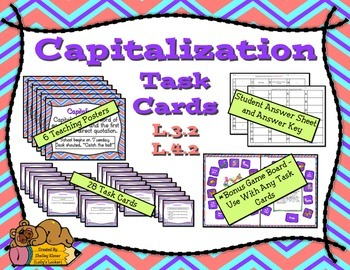Capitalization Task Cards