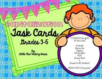 Capitalization Task Cards