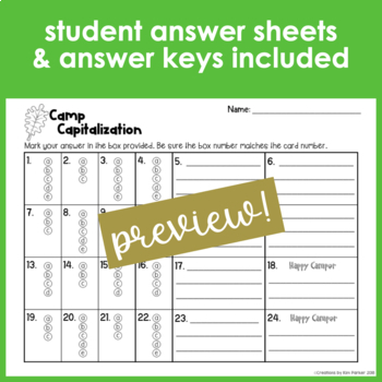 Capitalization Task Cards 2 Sets