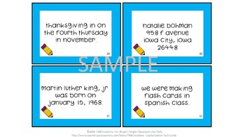 Capitalization Activities Task Cards