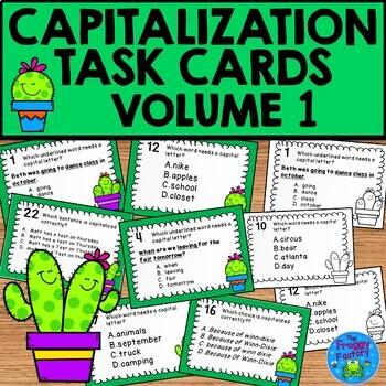 Capitalization Task Cards Volume 1
