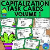 Capitalization Task Cards - Cactus Theme