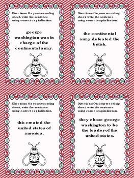Capitalization Task Cards {Common Core Aligned}