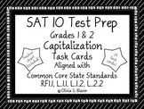 Capitalization Task Cards - Grades 1 & 2 - SAT-10 Test Prep