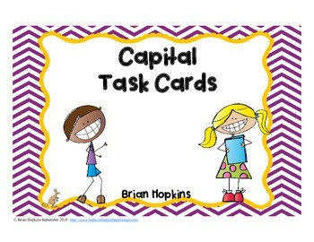 Capitalization Task Cards (Includes Proper Nouns)