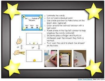Capitalization - Task Cards - Just Pick and Pinch (or clip!)
