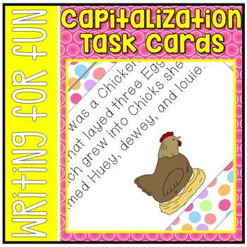 Capitalization Task Cards L.2.2A