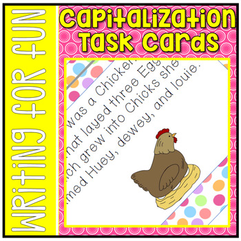 Capitalization Task Cards L.2.2A