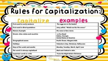 Capitalization Task Cards {L.3.2}