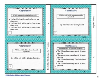 Capitalization Task Cards L.4.2