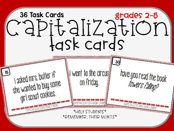 Capitalization Task Cards (Remember, your M.I.N.T.S.)