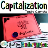 Kindergarten Capitalization Task Cards with Anchor Chart &